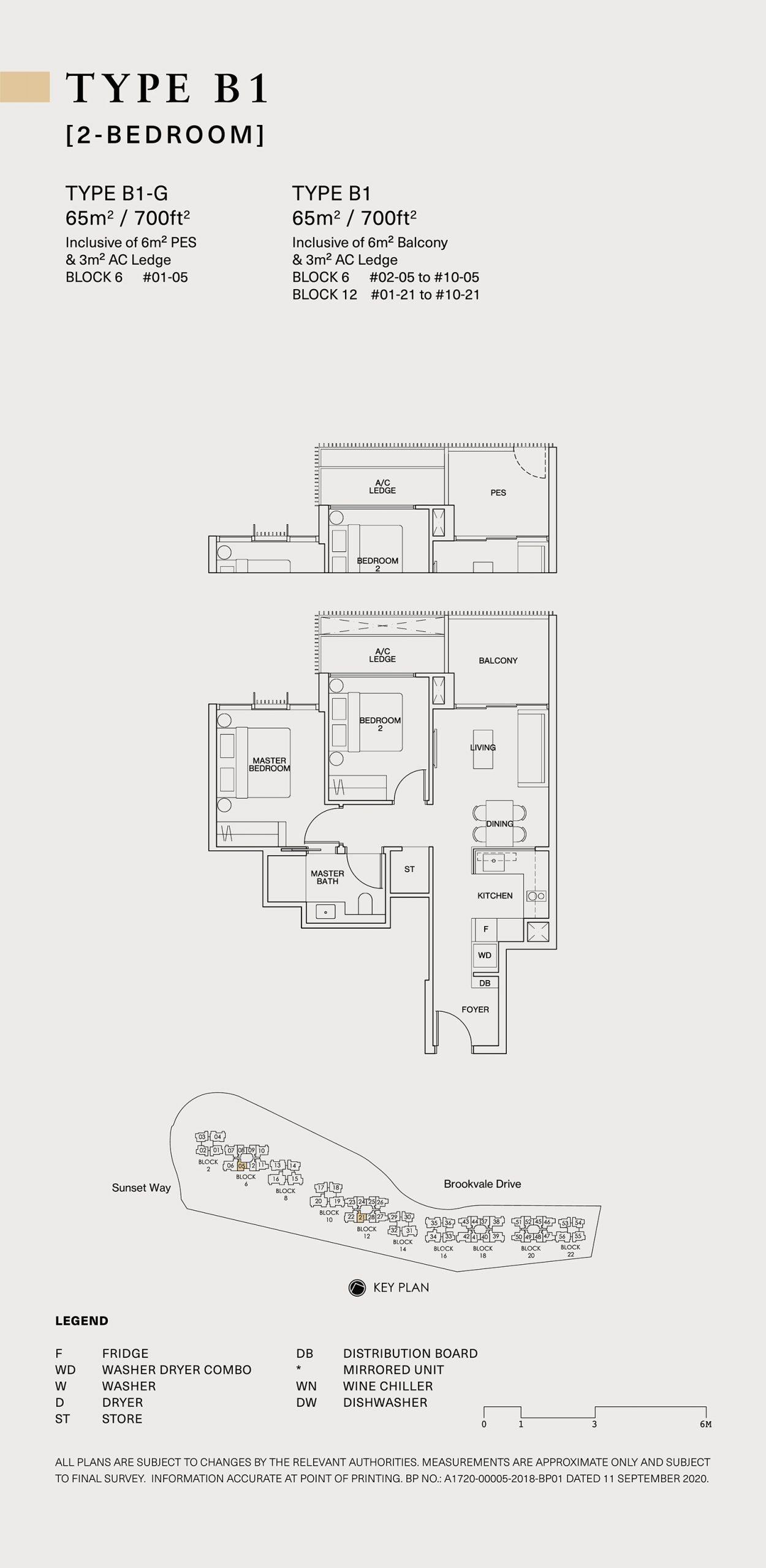Ki Residences Floor Plan 2 Bedroom B1 scaled
