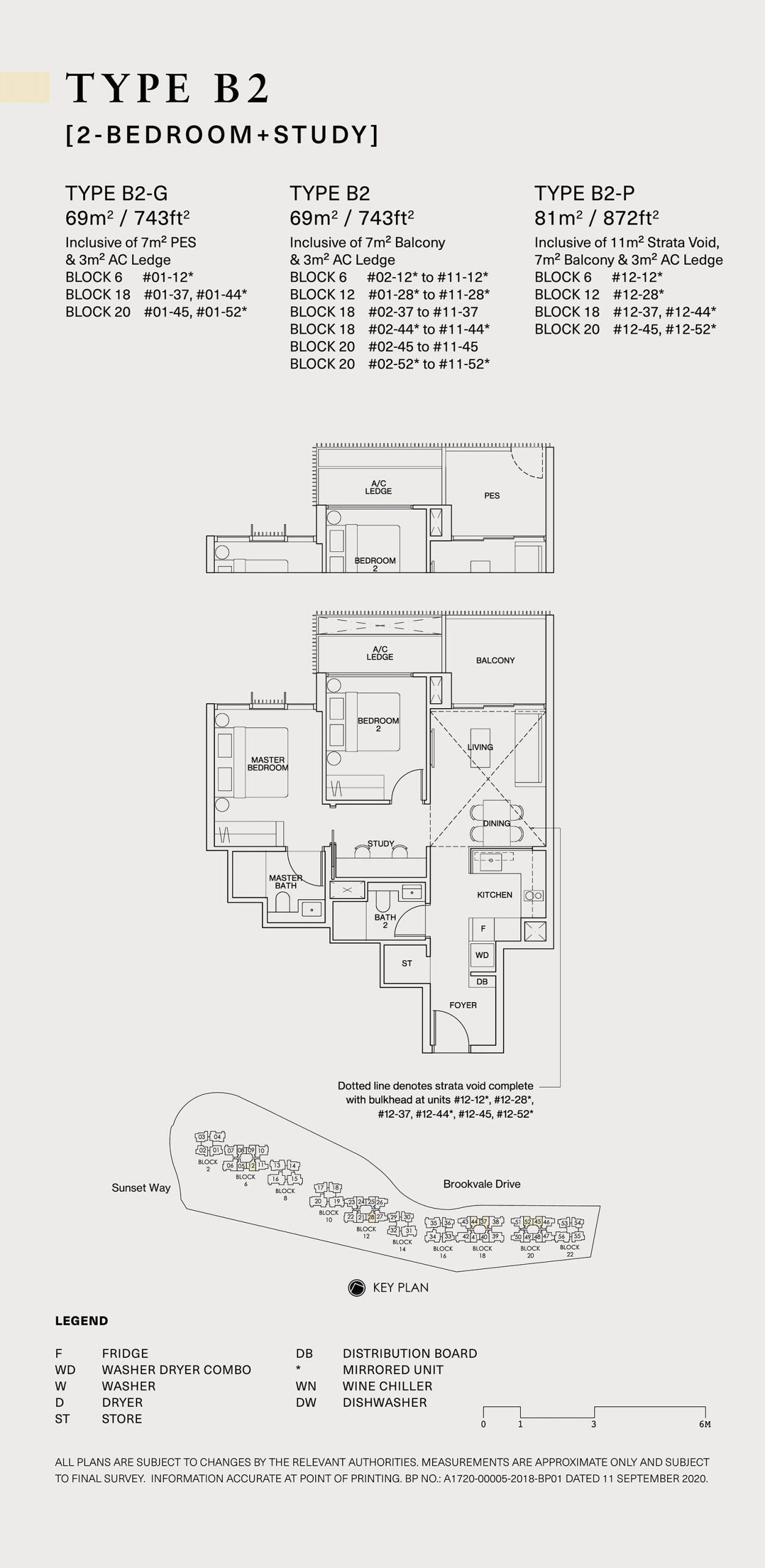 Ki Residences Floor Plan 2 Bedroom B2 scaled
