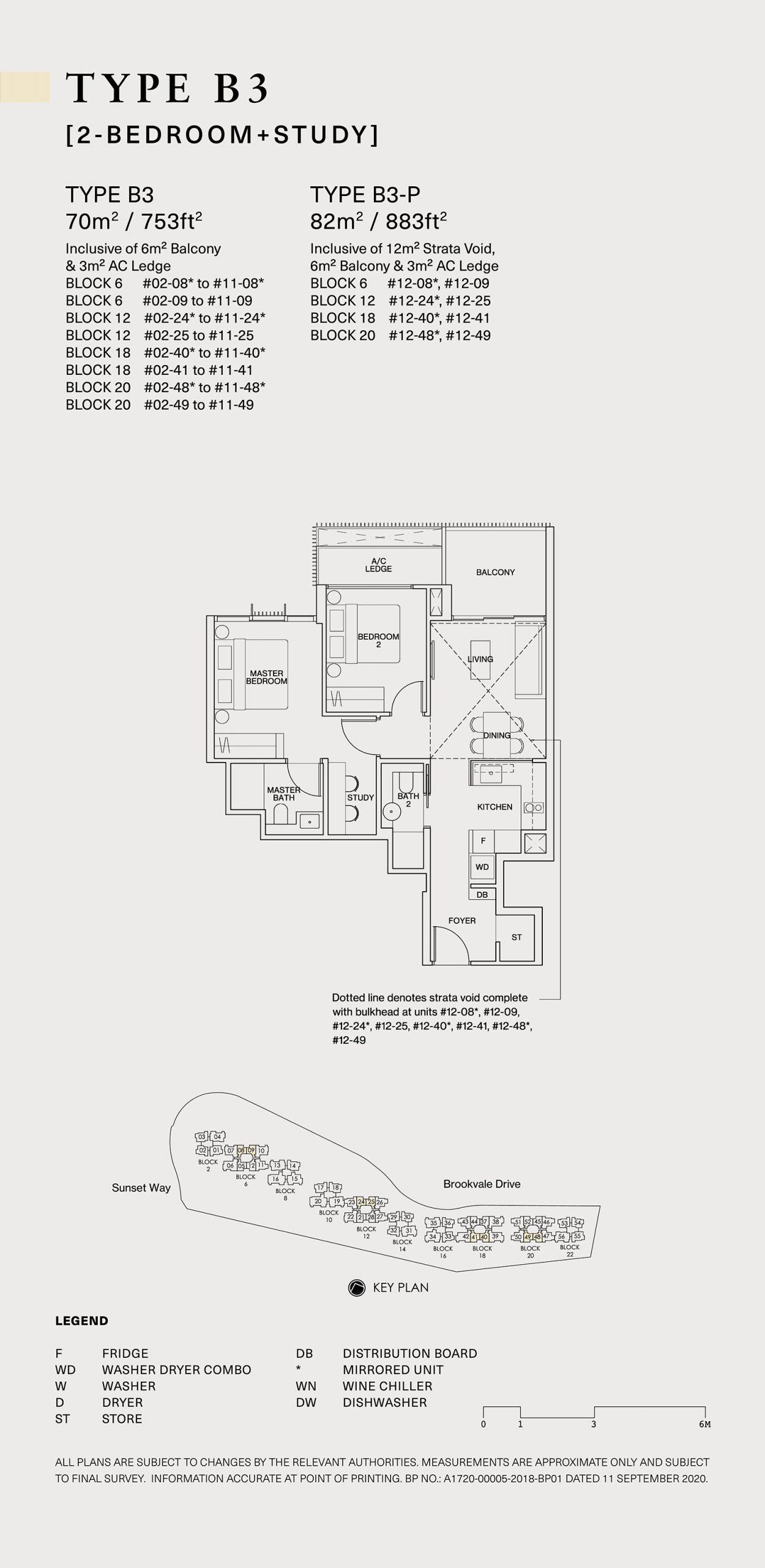 Ki Residences Floor Plan 2 Bedroom B3 scaled