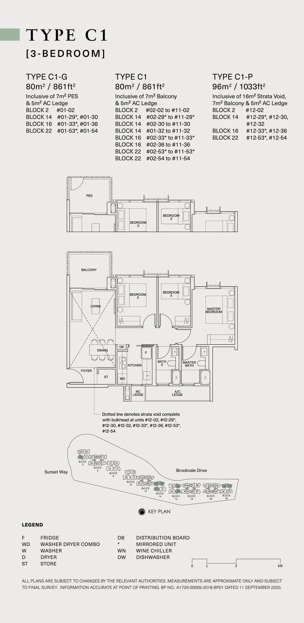 Ki Residences Floor Plan 3 Bedroom C1 scaled