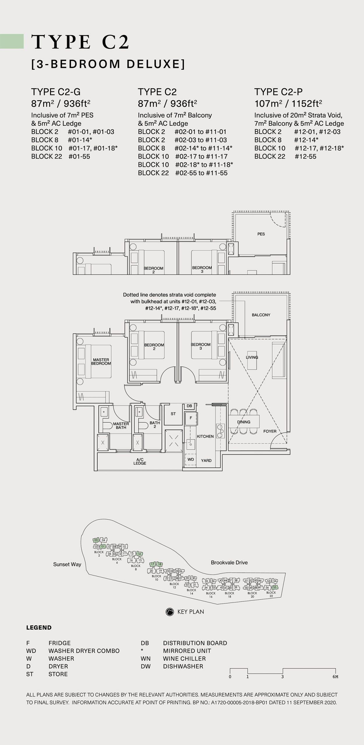 Ki Residences Floor Plan 3 Bedroom C2 scaled