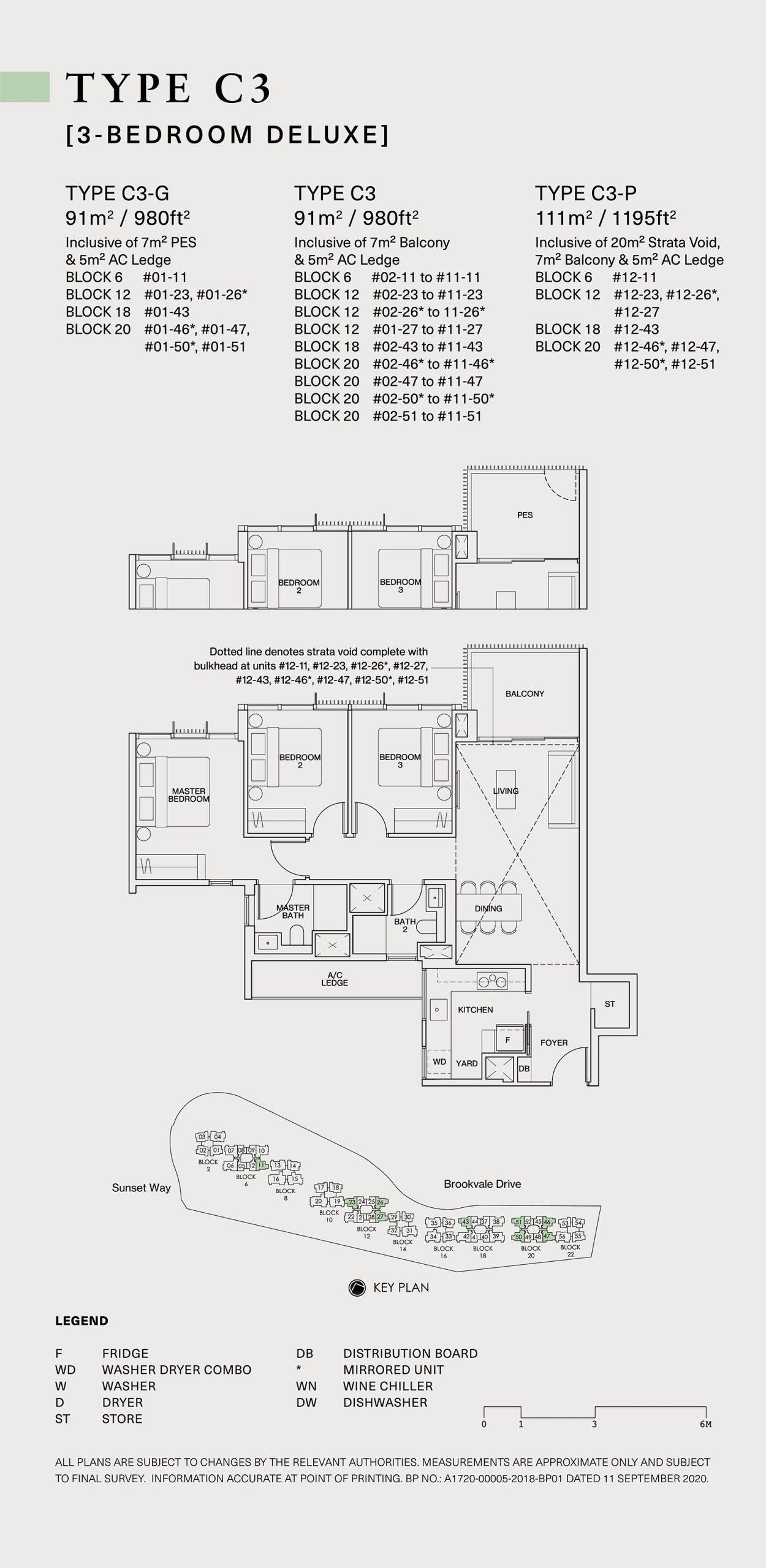 Ki Residences Floor Plan 3 Bedroom C3 scaled