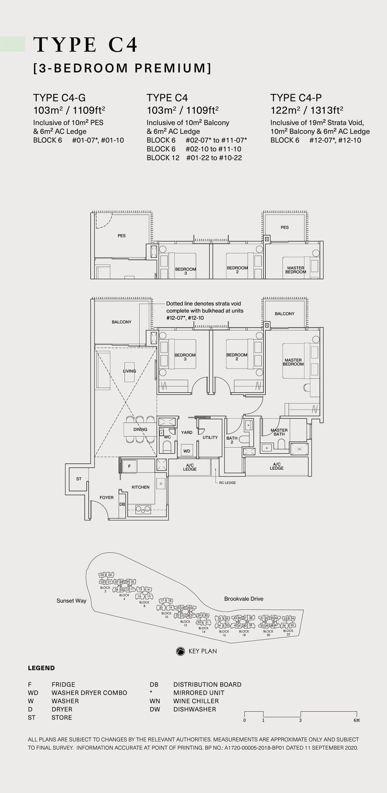 Ki Residences Floor Plan 3 Bedroom C4 scaled