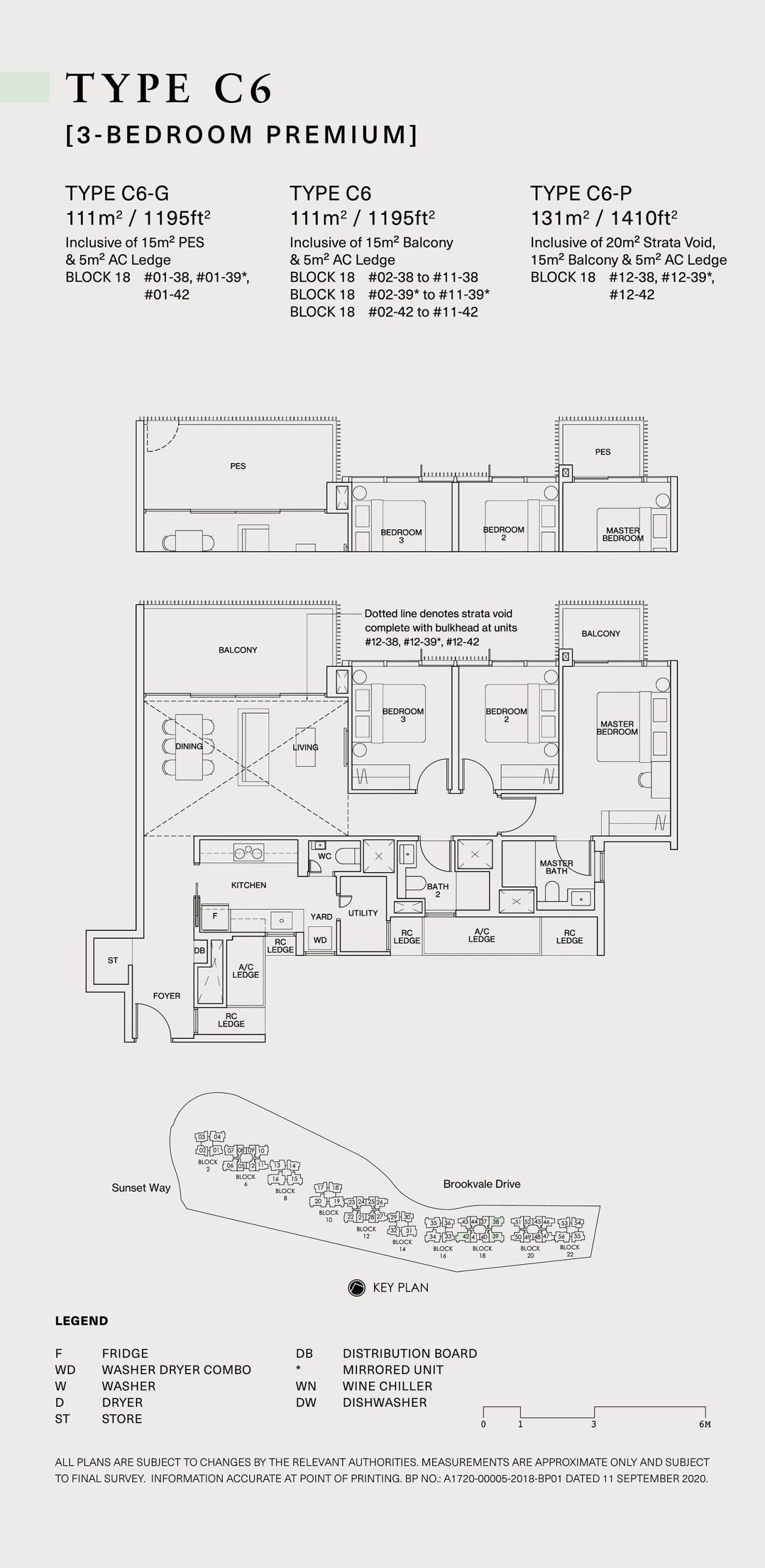Ki Residences Floor Plan 3 Bedroom C6 scaled